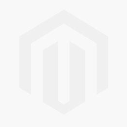 18k White Gold Square Halo Three Stone Engagement Ring